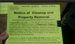 Notice to Clean Up for Chapparal Canyon 061515